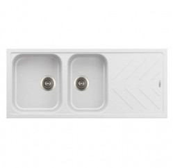 Kitchen Sinks-New Beethoven Two Bowl With Drainer