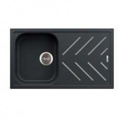 Kitchen Sinks-New Beethoven Steel Inlay Single Bowl With Drainer