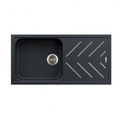 Kitchen Sinks-New Beethoven Steel Inlay Single Large Bowl With Drainer