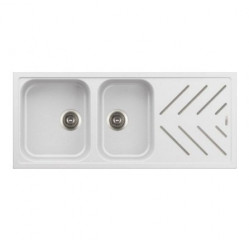 Kitchen Sinks-New Beethoven Steel Inlay Two Bowl With Drainer