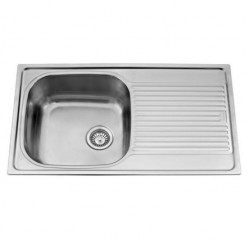 Kitchen Sinks-Vogue Single Bowl With Drainer
