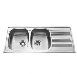 Kitchen Sinks-Vogue Two Bowl With Drainer