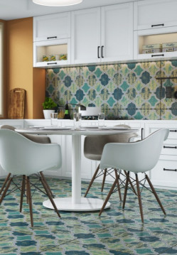 Tiles-Kitchen Blue Green