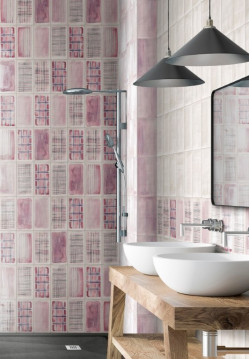 Tiles-Aquarel Pink Decor