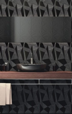 Tiles-Fracture Black Decor