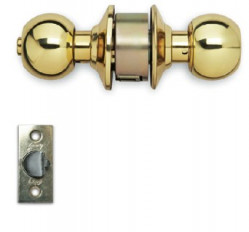 Shower  Enclosures-Cylindrical Lock-Polished Brass