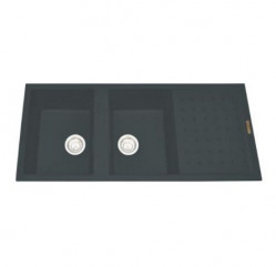 Kitchen Sinks-Polo Two Bowl With Drainer