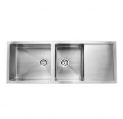 Kitchen Sinks-Quadro Two Bowl With Drainer