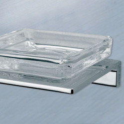 Bath Accessories-SG-61009 Crystal Soap Dish Holder Square