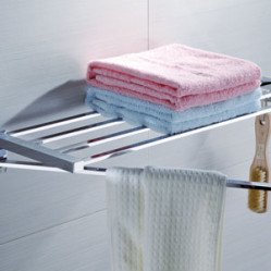 Bath Accessories-OS-10110 TOWEL RACK WITH SWIVEL BAR & HOOK